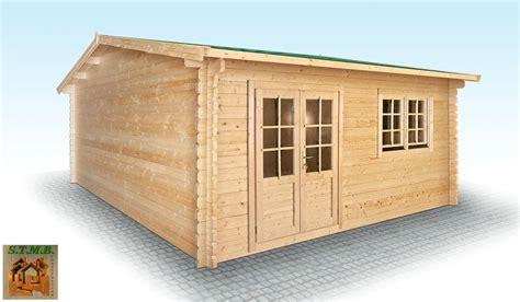 chalet en bois en kit mod 232 le hiba 25 m2 en madriers de 44 mm