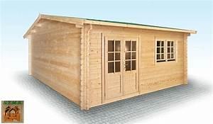 Chalet En Bois Habitable D Occasion : chalet en bois en kit mod le hiba 25 m2 en madriers de 44 mm ~ Melissatoandfro.com Idées de Décoration