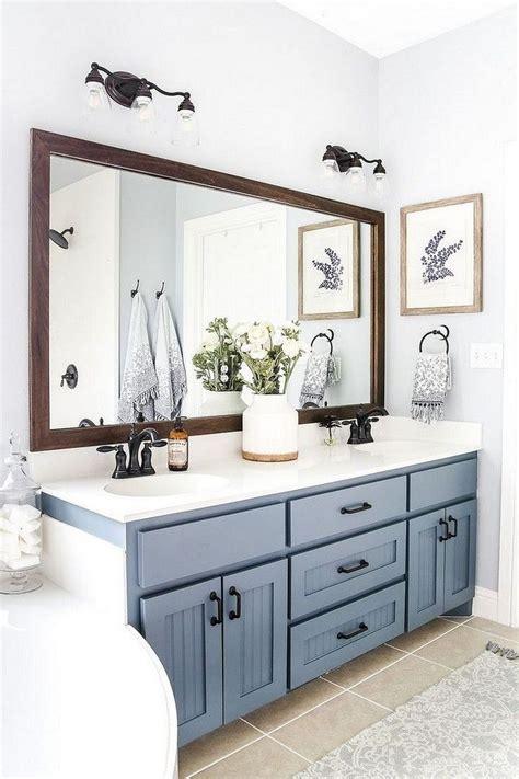 beautiful urban farmhouse master bathroom makeover