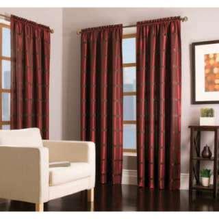 allen roth 63l mocha raja window panel 1596190 63