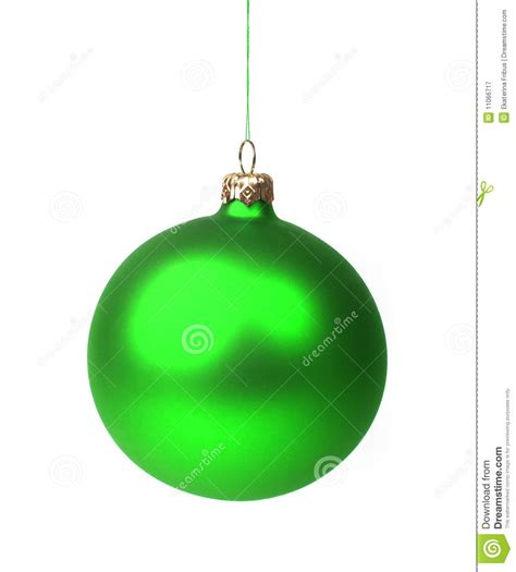 green christmas bauble stock image image of decoration
