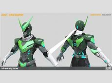 Hong Chan Lim Overwatch Sentai Genji high poly