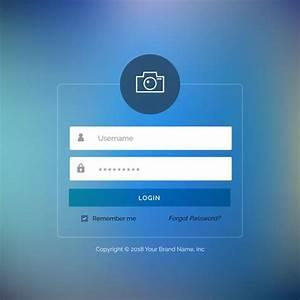 Login Page Template In Asp Net Free Download Elegant Ui Login Form Design On Blurred Background