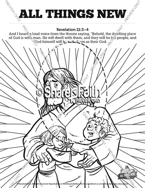 revelation  coloring page sketch coloring page