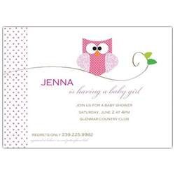 personalized baby birth plates owl girl baby shower invitations paperstyle