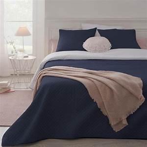 Parure De Lit Marbre : parure de lit grande taille dessus de lit 2 housses d 39 oreiller bleu nuit maison fut e ~ Melissatoandfro.com Idées de Décoration