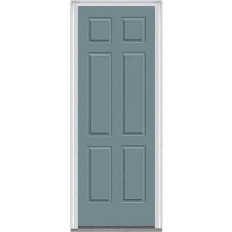steel entry door home depot milliken millwork 37 5 in x 97 75 in 6 panel painted