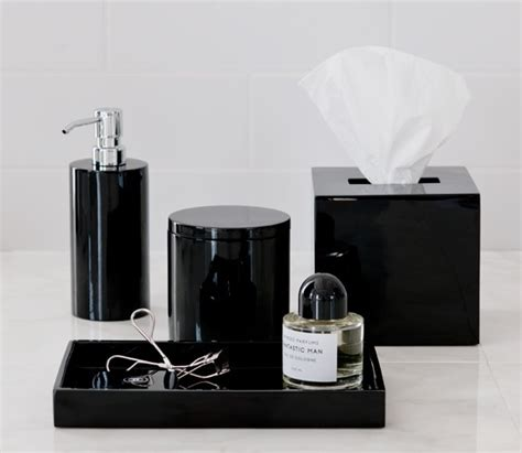 Modern Black And White Bathroom Accessories by Black Lacquer Bathroom Accessories Master Bath