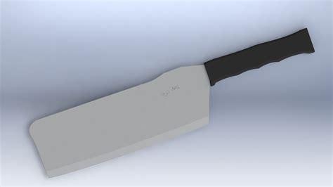 tactical kitchen knives tactical kitchen cleaver knife free 3d model stl