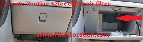 Rendezvou Fuel Filter by Locate And Replace Pontiac Aztek Cabin Air Filter