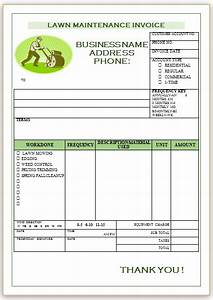10 free landscaping invoice templates professional With lawn care invoices free