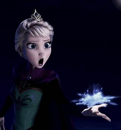 Frozen Animated Elsa Disney Gifs Magic Movies