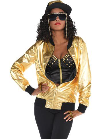 hip hop gold jacket adult costume party delights