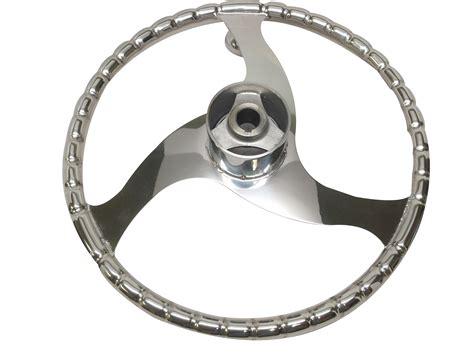 Boat Steering Wheel Turning Knob by Marine Boat 3 Spoke Stainless Steel Steering Wheel Turning