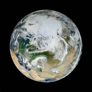New Blue Marble Image of Earth Looks Down on Arctic