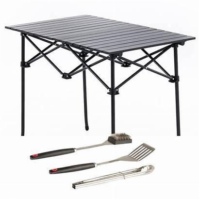 Table Bbq Camping Portable Aluminium Kings Adventure