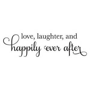 chalkboard wedding sayings laugher happily after wall quotes decal