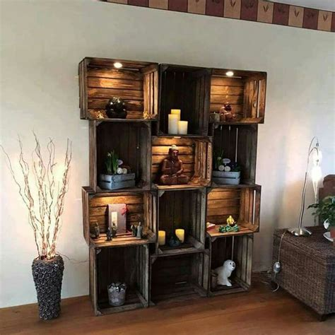 wooden crate shelving ideas      wow