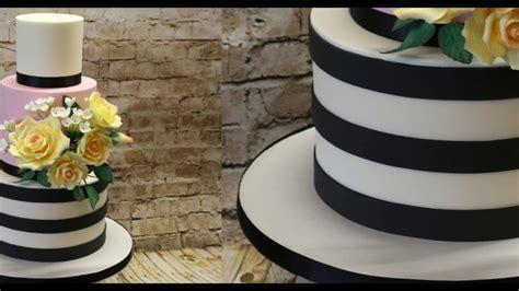 how to make cakes how to make horizontal stripes on a cake youtube