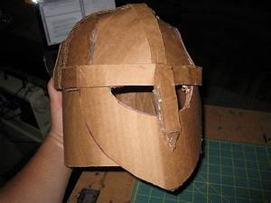 diy building a medieval helmet out of cardboard happily With cardboard armour template