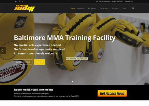 baltimore web design mma web design martial arts website