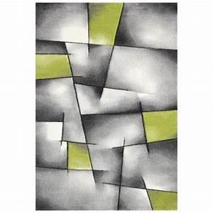 Brillance tapis de salon 160x230 cm vert gris et noir for Tapis vert et gris