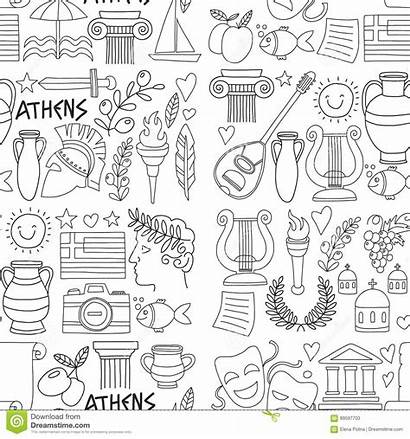 Coloring Greece Doodle Pages History Wine Ancient