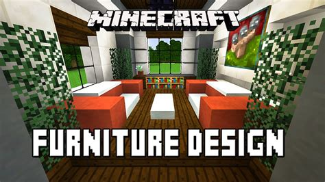 minecraft tutorial    living room furniture