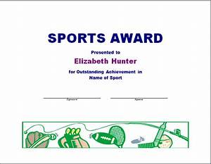 Sport Certificate Templates Sports Awards Clipart 30