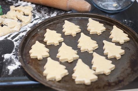 baking tray with christmas cookies free stock image