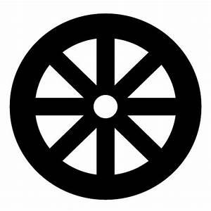 Buddhismus Religion Symbol Dharma Rad Schlicht Wandtattoo