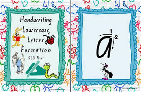 year  handwriting lowercase letter formation qld print