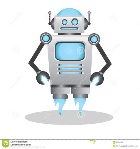 cool  cute  robot illustration stock vector image