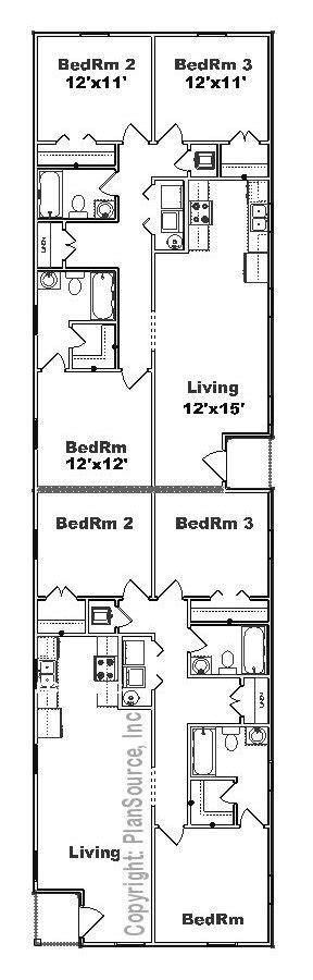 duplex floor plans for narrow lots narrow lot duplex plans