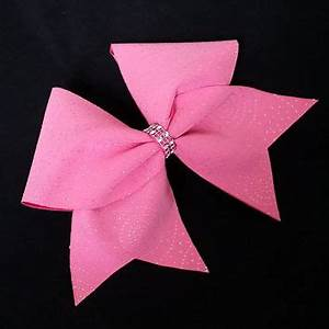 Image Gallery neon pink cheer bow