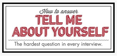 Tell Me About Yourself That Is Not Included In Your Resume Answer by How To Answer Quot Tell Me About Yourself Quot Primer