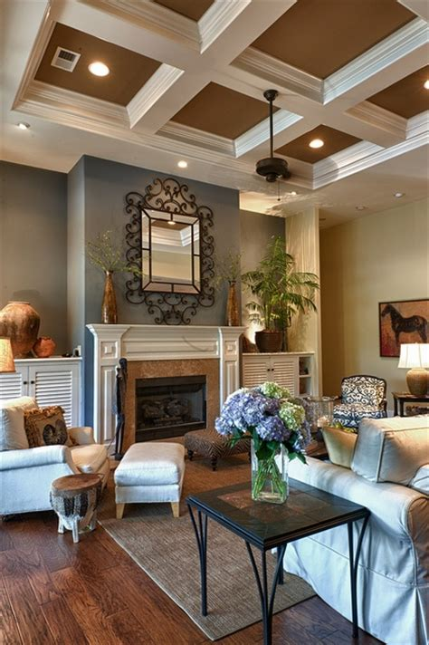 Great Blue & Brown Living Room (in Set Of 168 House Photos