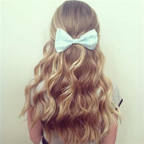 Curls And Cute Bow Hairstyles And Beauty Tips Hairstyles