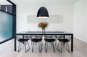 Distance of dining room light from table for ultra modern