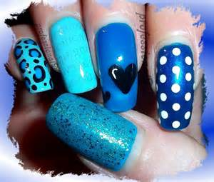 Image of: Blue Nail Art Autism Awareness Youtube Blue Nail Designs To Beauty Your Nails