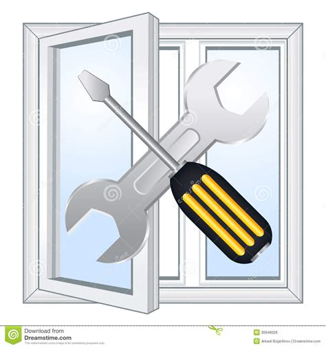 window repair workshop royalty  stock image image