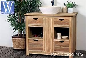 meuble de salle de bain en teck massif collection wildwater With meubles salle de bain teck massif