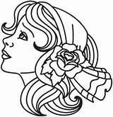 Gypsy Coloring Pages Drawing Urban Embroidery Designs Tattoos Tattoo Threads Hand Urbanthreads Line Face Outlines Sheets Awesome Unique Printable Luck sketch template