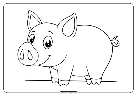 Printable Pig Coloring Pages For Children