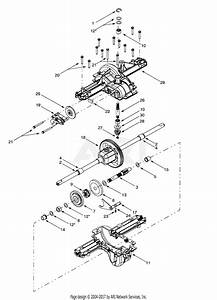Troy Bilt 13ay609h063  2001  Parts Diagram For Differential Assembly