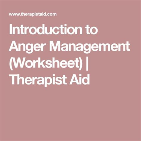 introduction to anger management worksheet therapist aid 124 best mst model tools images on cbt