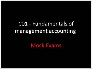 Ba2 Fundamentals Of Management Accounting Practice Mock Exams