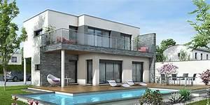 Maison Moderne Toit Plat : maison toit plat azur architecture et agencement ~ Nature-et-papiers.com Idées de Décoration