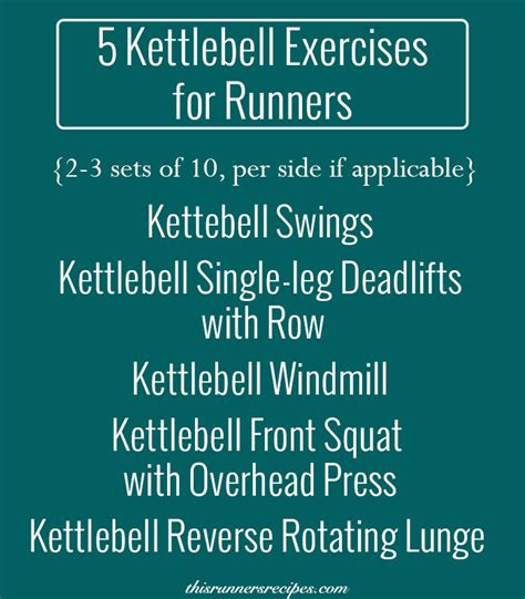 kettlebell runners exercises workout training running routine