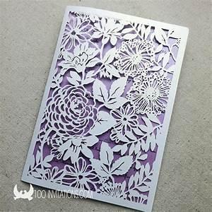 100 sets wedding invitationspurple wedding invitationspurple With wedding invitation paper cutter